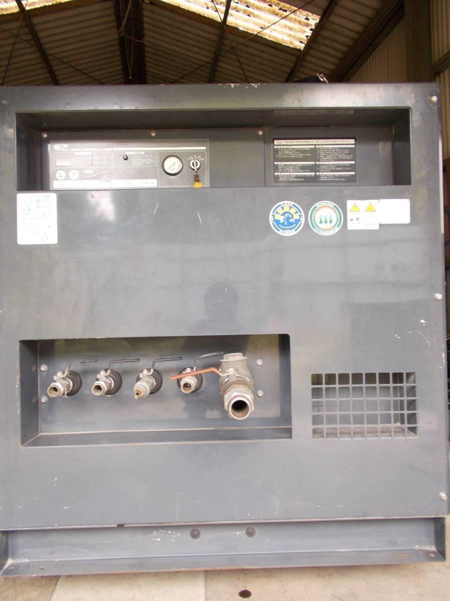 「中古 エアマン 北越工業 エンジン エヤーコンプレッサーPDS265SC アフタークーラー 低時間 美品」の画像3