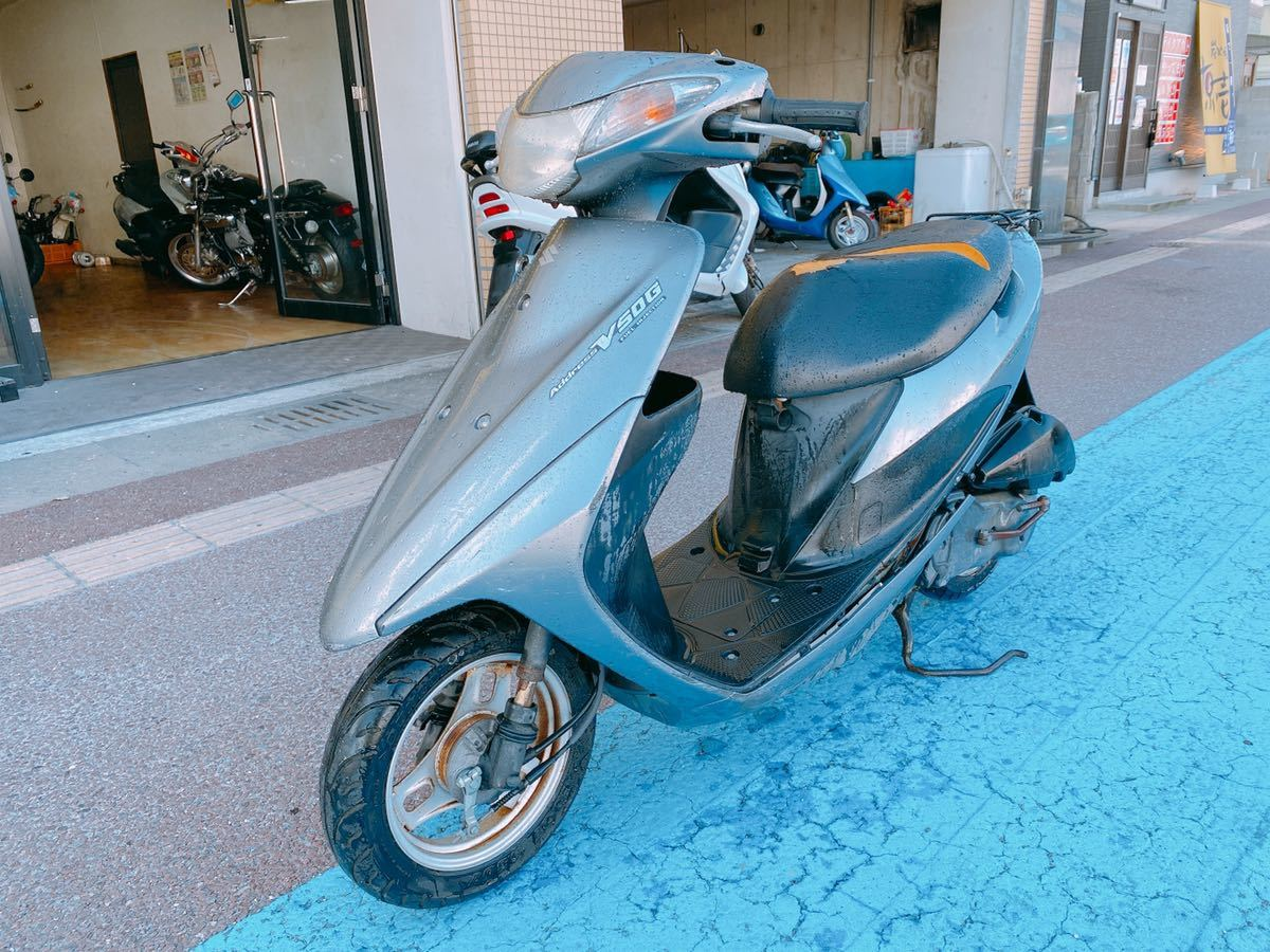 「一応乗って帰れます アドレスV50 整備必要 原付 FI インジェクション 現車確認直接引取大歓迎 福岡」の画像2