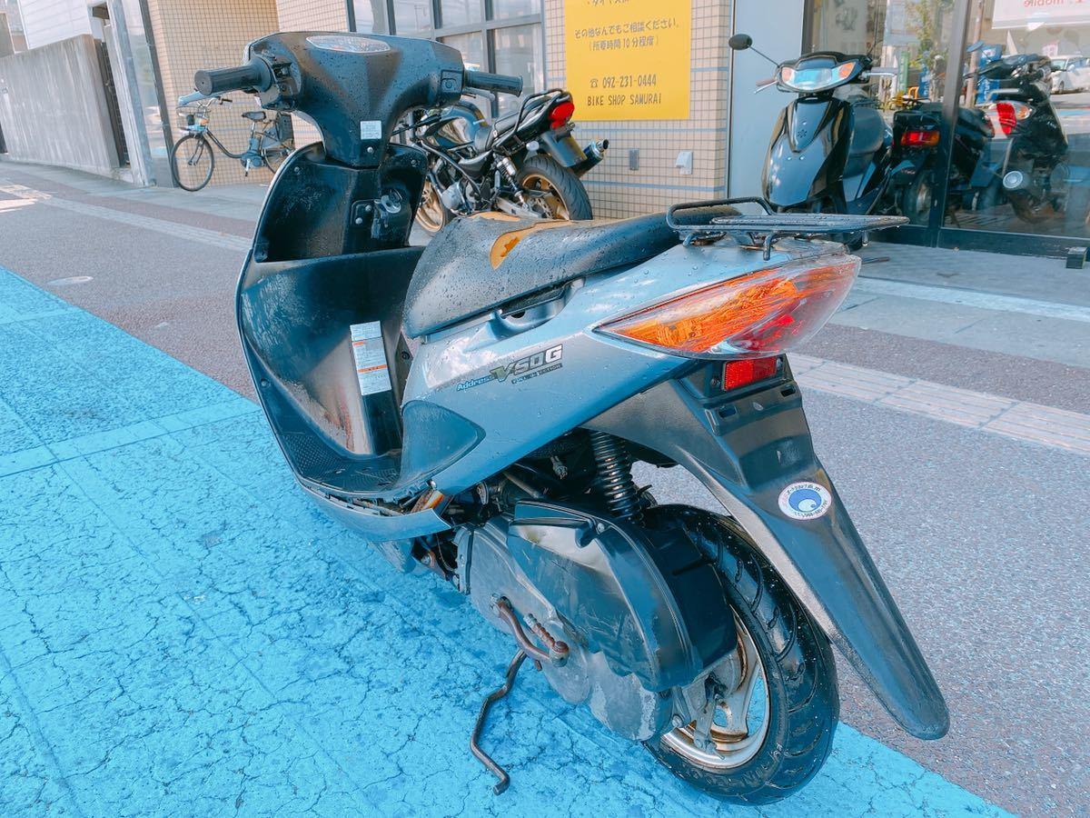「一応乗って帰れます アドレスV50 整備必要 原付 FI インジェクション 現車確認直接引取大歓迎 福岡」の画像3