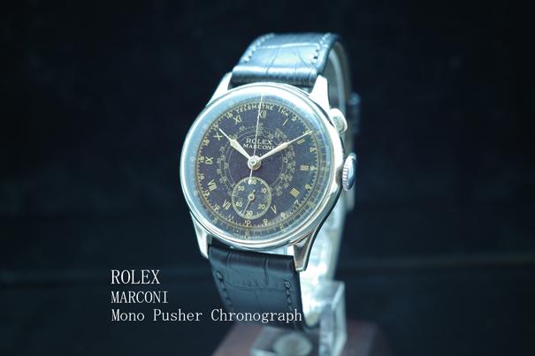 ロレックス ROLEX マルコーニ MARCONI モノプッシャー クロノグラフ Chronograph アンティーク1946年製 SS 動作良好極美品 本物 価格高騰中