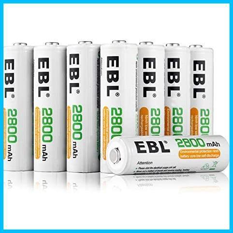 EBL 単4形充電池 充電式ニッケル水素電池 高容量1100mAh 8本入り 約1200回使用可能 ケース2個付き 単四充電池_画像1