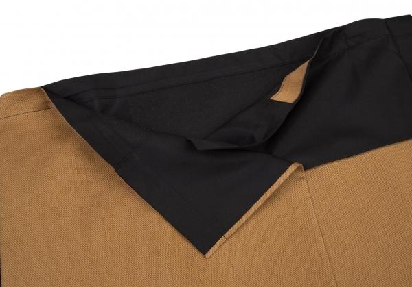 イッセイミヤケISSEY MIYAKE 132 5. ジャガードパネル切替スクエアシルエットジャケット 黒ベージュグレーM位 【レディース】_画像4