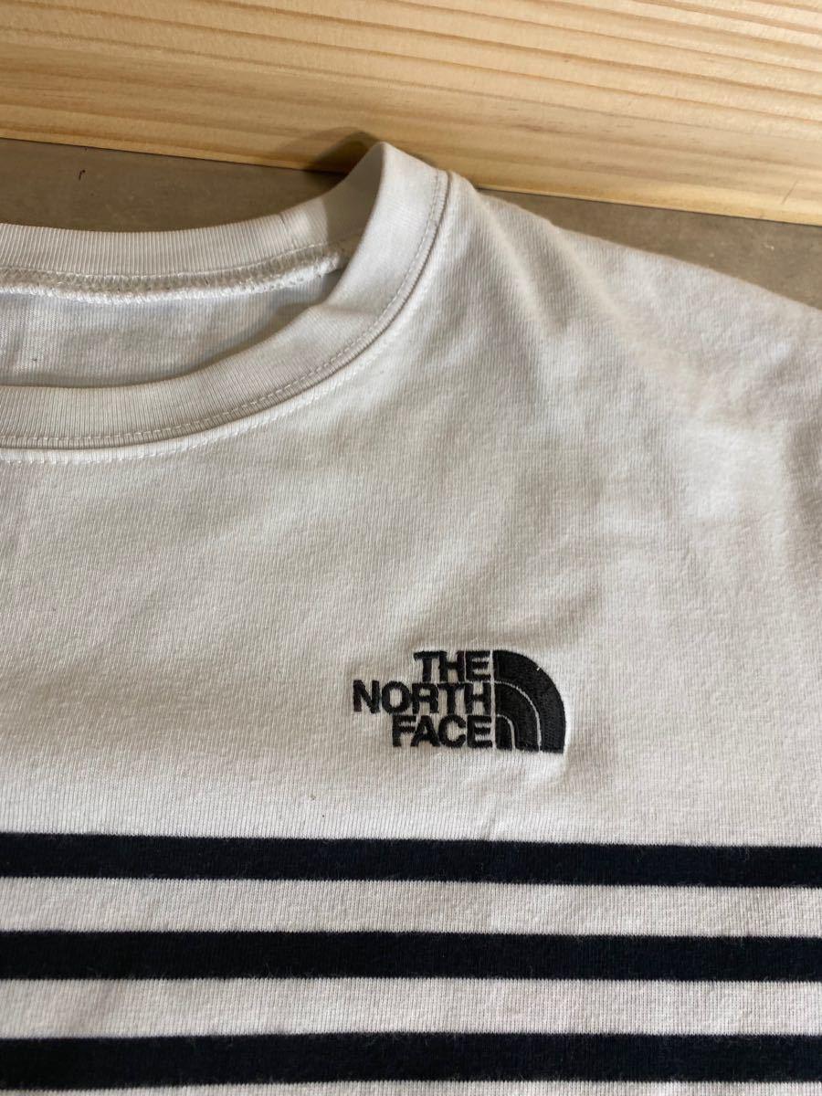 メンズ 「L」170〜180cm THE NORTH FACE ザノースフェイス ボーダーTシャツ ノースフェイスTシャツ