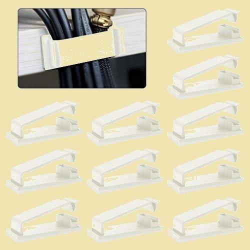 セール 新品 ケ-ブルホルダ- ケ-ブルクリップ、MAVEEK 8-L5 ホワイト 30個入り コ-ドクリップ ケ-ブル収納 ケ-ブル固定具_画像1