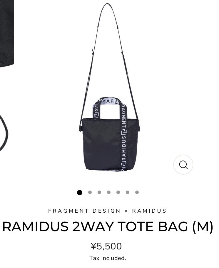 FRAGMENT DESIGN × RAMIDUS 2WAY TOTE BAG Mサイズ 新品同様_画像7