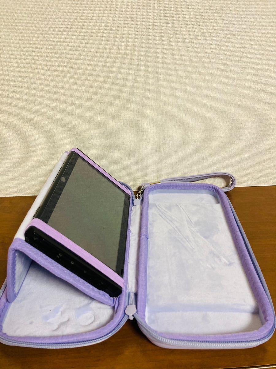 任天堂switch収納キャリングポーチ&ジョイコンアナログスティックカバー スタンド機能搭載ニンテンドースイッチ保護ケース カバー