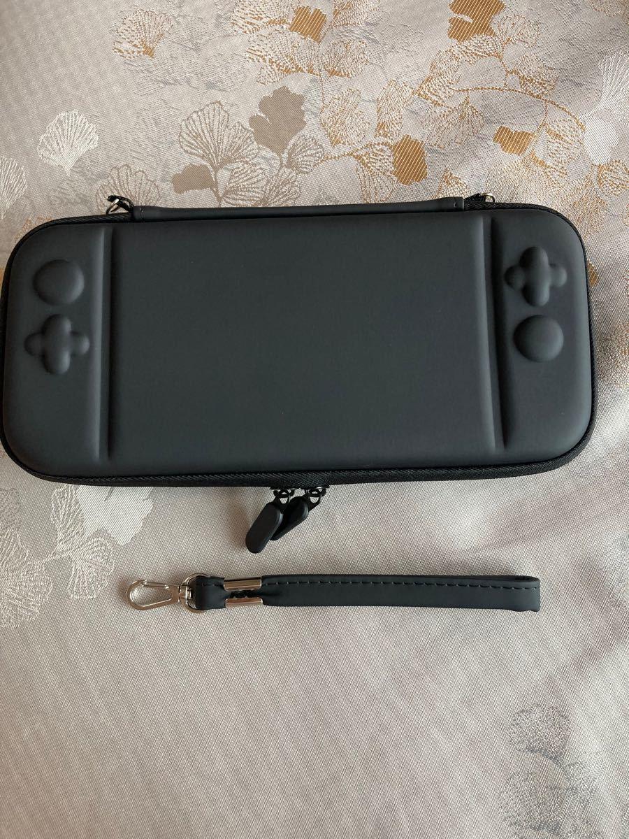 任天堂switch収納キャリングポーチ ニンテンドースイッチ保護ケース カバー ストラップ付き