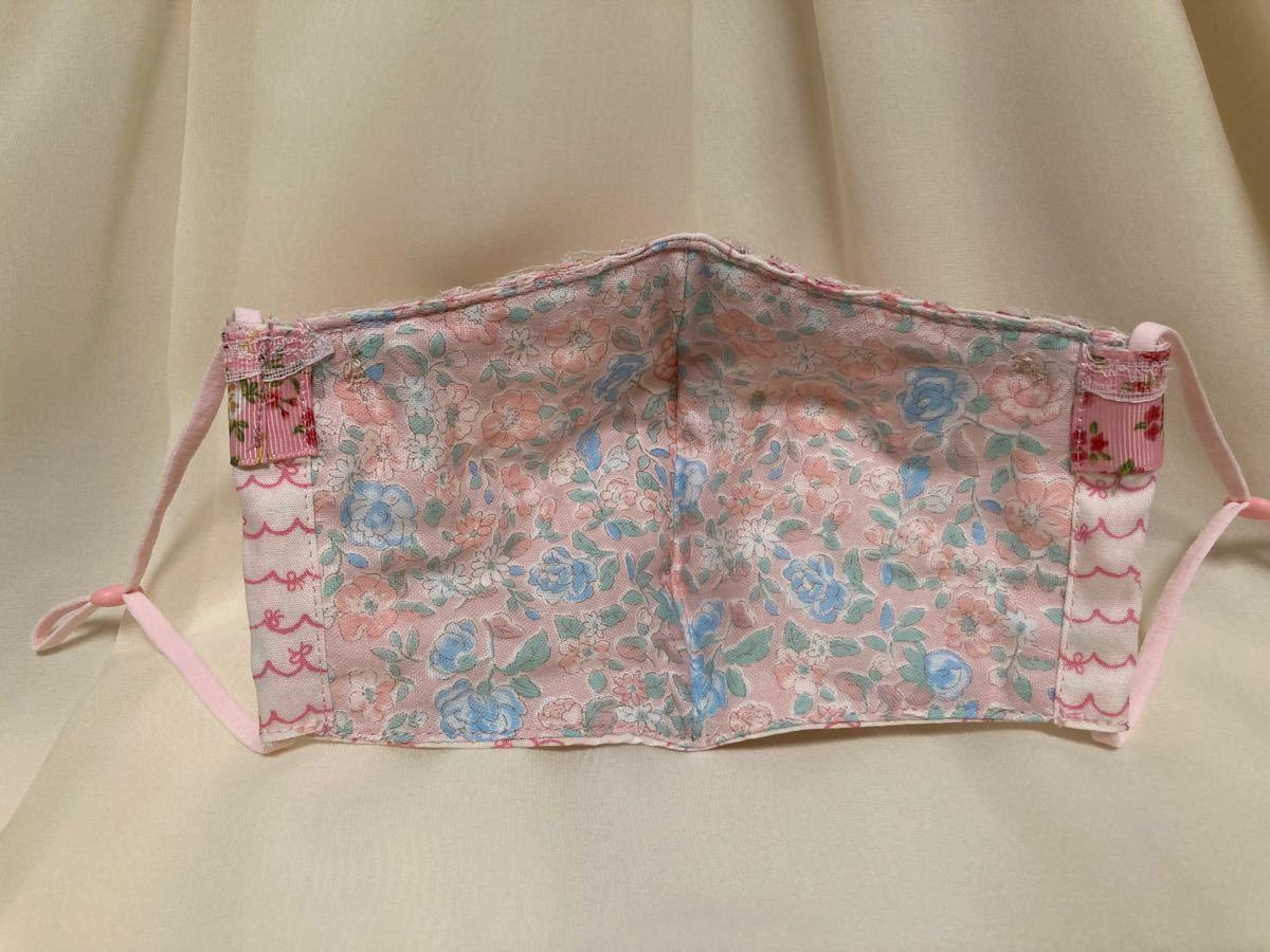 立体インナー リボン柄 花柄グロランリボン ギャザーレース ハンドメイド