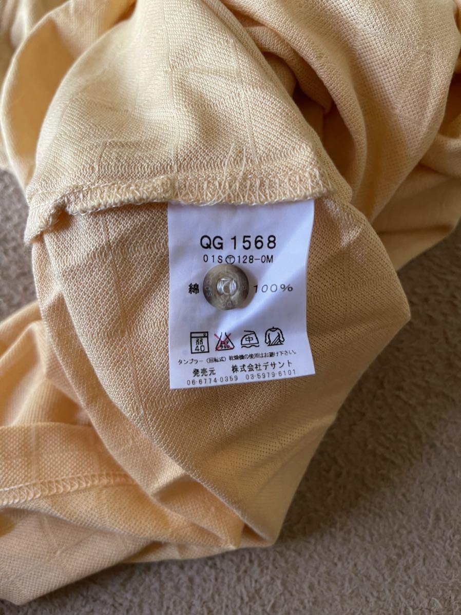 美品 le coq sportif GOLF ルコックゴルフ 吸汗速乾 半袖ポロシャツ 黄色×黒 メンズ サイズM☆S8☆49☆_画像5