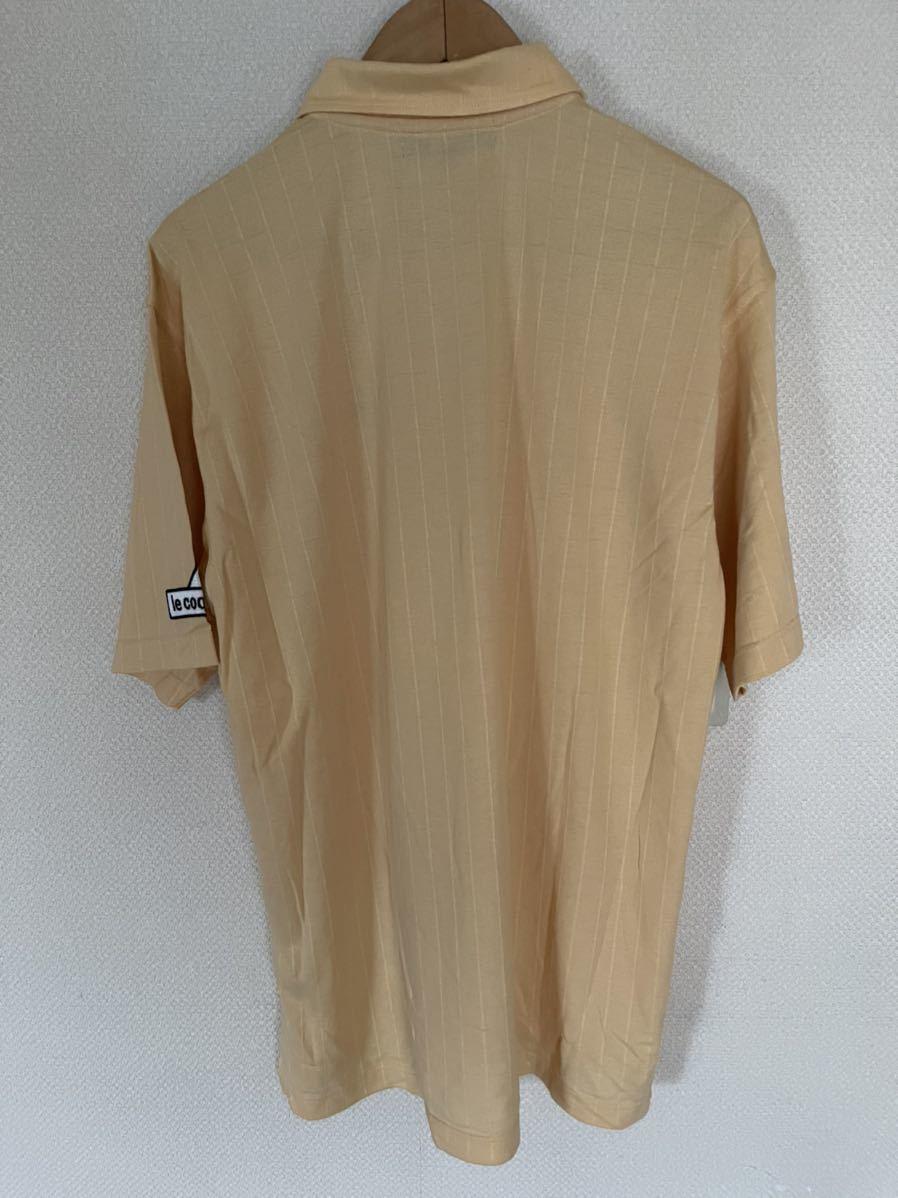 美品 le coq sportif GOLF ルコックゴルフ 吸汗速乾 半袖ポロシャツ 黄色×黒 メンズ サイズM☆S8☆49☆_画像2