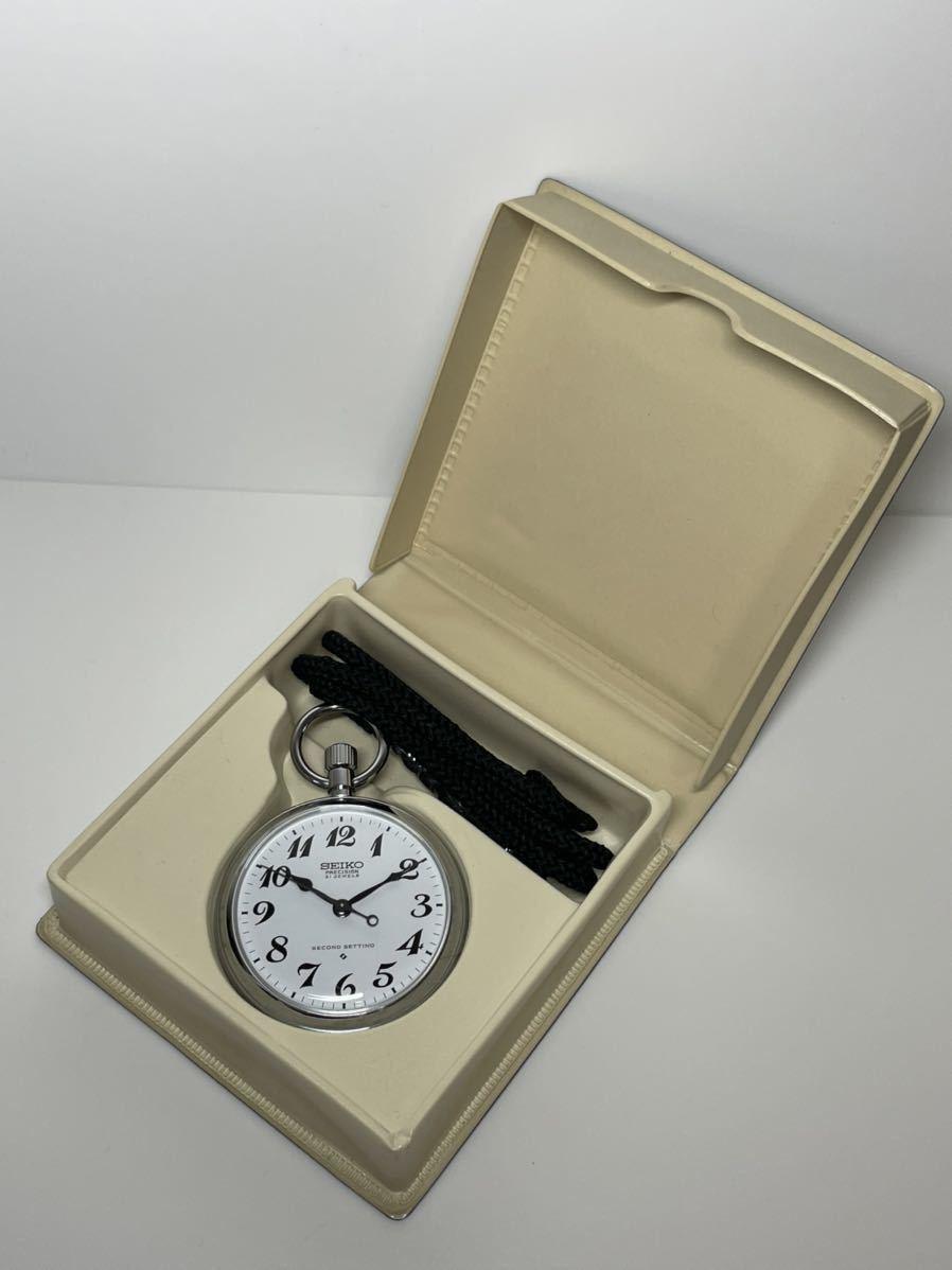 【稼働品】SEIKO セイコー 懐中時計 手巻き PRECISION SECOND SETTING 21JEWELS 6110-0010 鉄道時計