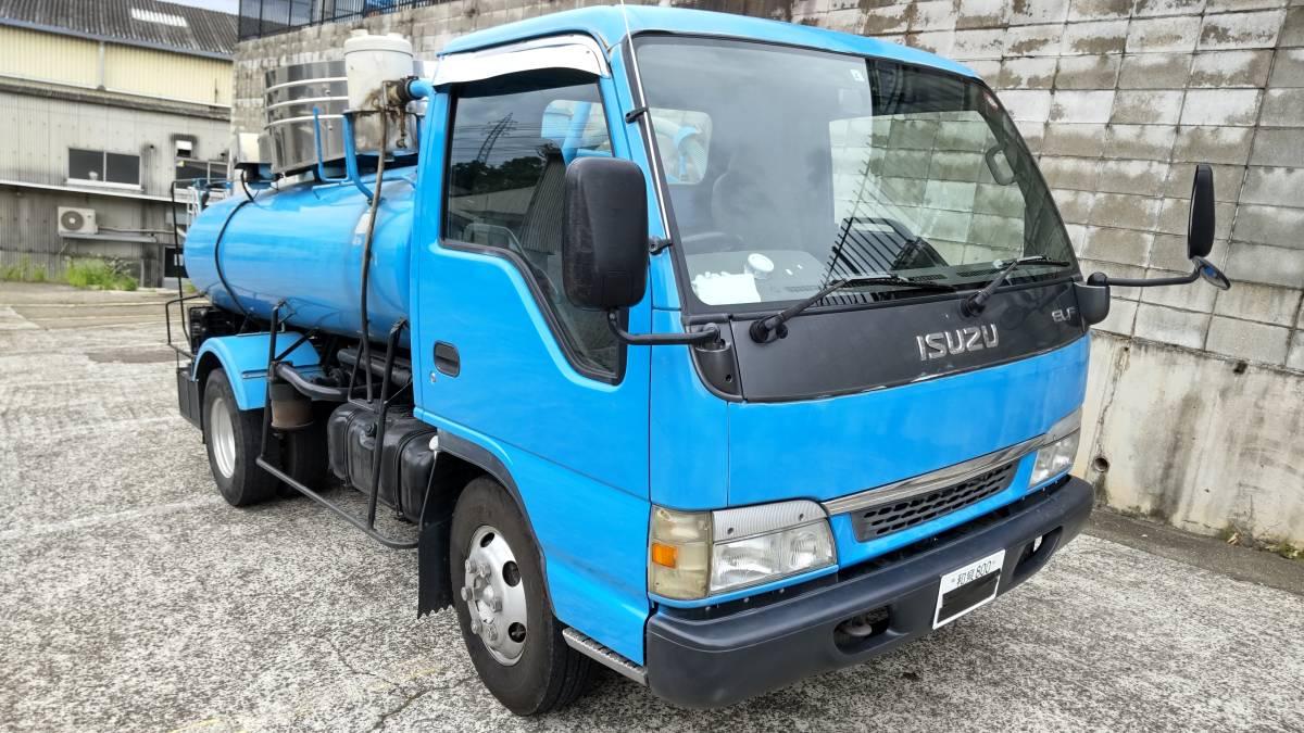 「平成16年式 いすゞ エルフ モリタ製 バキュームカー 糞尿車 3700L 14万キロ 車検令和4年4月迄」の画像2