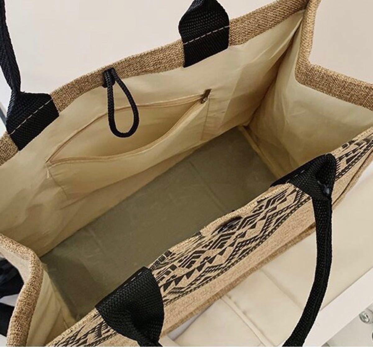トートバッグ ジュート 軽量 大容量 マチ A4 オシャレ 夏 麻 リネン エコバッグ マザーズバッグ ナチュラル 通勤 通学