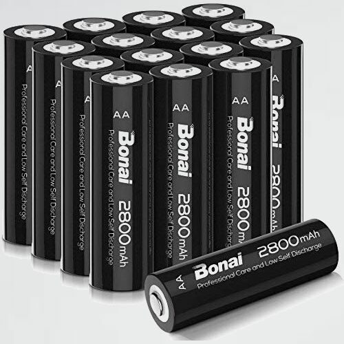 未使用 新品 単3形 BONAI C-TL 自然放電抑制 環境友好タイプ 充電池 充電式ニッケル水素電池 16個パック(超大容量2800mAh_画像1
