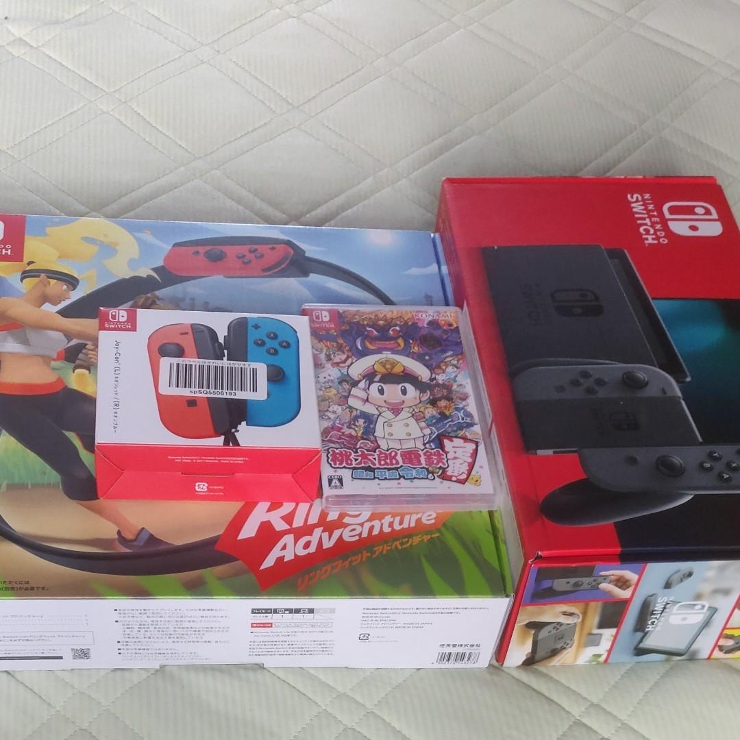 4点Nintendo Switch 本体&リングフィットアドベンチャー&桃太郎電鉄&Nintendo Switch Joy-Con