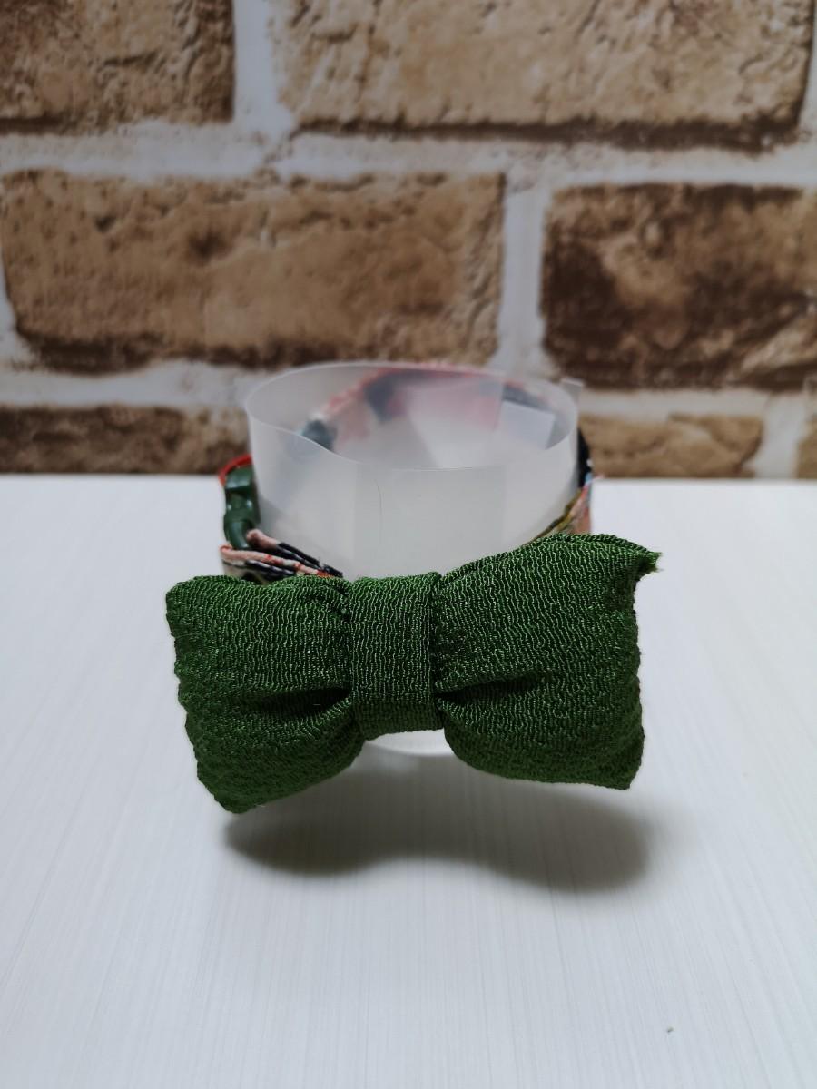猫 首輪 和柄 リボン