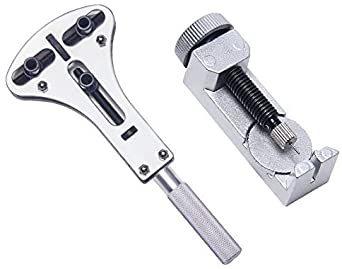 sibling 時計 工具 腕時計修理工具セット 電池&ベルト交換 バンド調整 時計修理工具 バネ外し 裏蓋開け 裏蓋オ_画像3