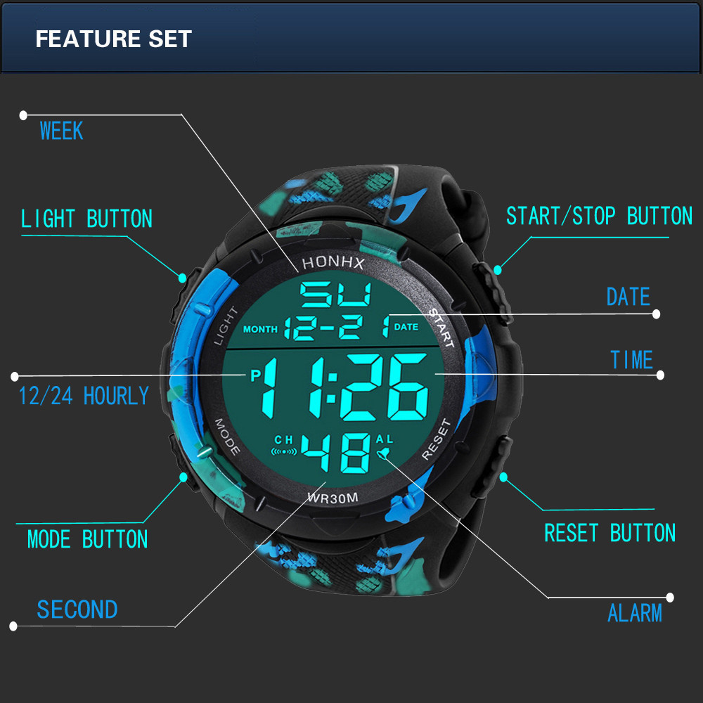 限定 08男性 アナログ LED デジタル ミリタリー アーミー スポーツ アウトドア 防水 腕時計 メカニカル スポーツ ウォッチメンズ_画像5