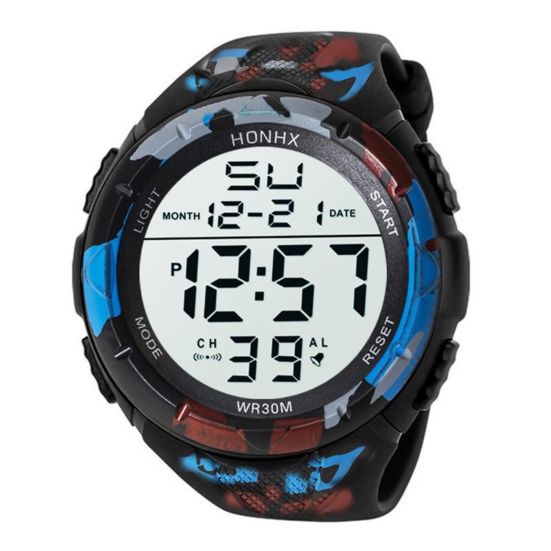 限定 08男性 アナログ LED デジタル ミリタリー アーミー スポーツ アウトドア 防水 腕時計 メカニカル スポーツ ウォッチメンズ_画像9