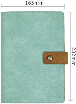 ライトブルー A5 (シーク)SEEKU 合皮 システム 手帳 A5 ペン カード 入れ 学生 ビジネス カラフル 軽量 レザー_画像3