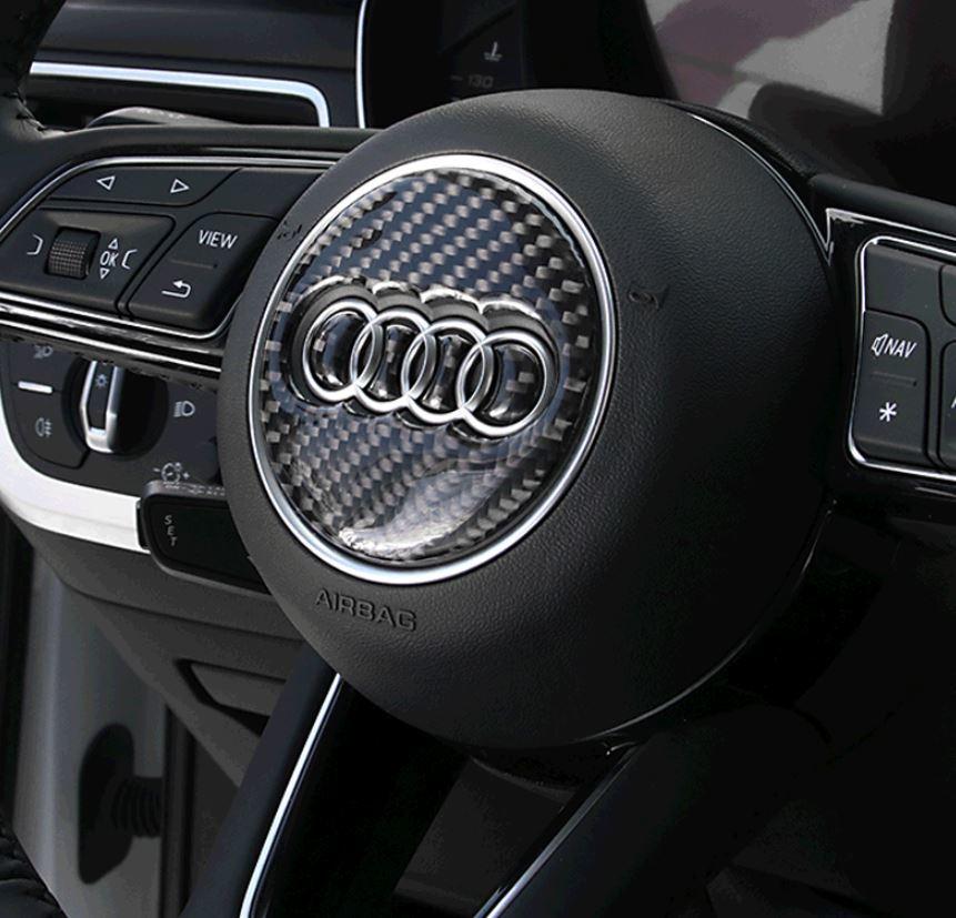 アウディ Audi ハンドル ステッカー カーボン調 3種類あり3D シール A1A2A3A4A5A6A7A8Q3Q5Q7 など ドレスアップ_画像7