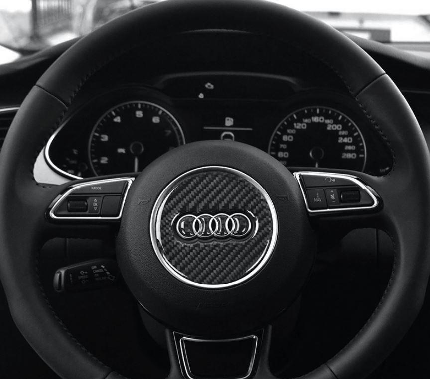 アウディ Audi ハンドル ステッカー カーボン調 3種類あり3D シール A1A2A3A4A5A6A7A8Q3Q5Q7 など ドレスアップ_画像9