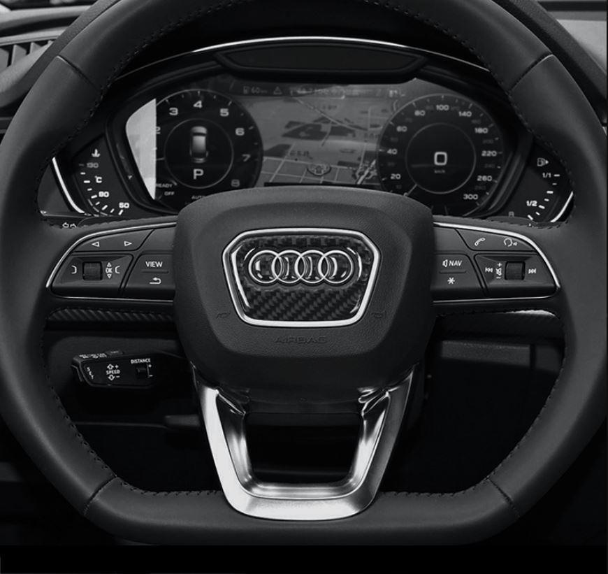 アウディ Audi ハンドル ステッカー カーボン調 3種類あり3D シール A1A2A3A4A5A6A7A8Q3Q5Q7 など ドレスアップ_画像10