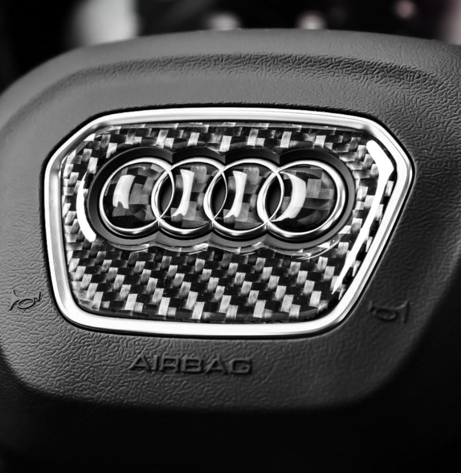 アウディ Audi ハンドル ステッカー カーボン調 3種類あり3D シール A1A2A3A4A5A6A7A8Q3Q5Q7 など ドレスアップ_画像6