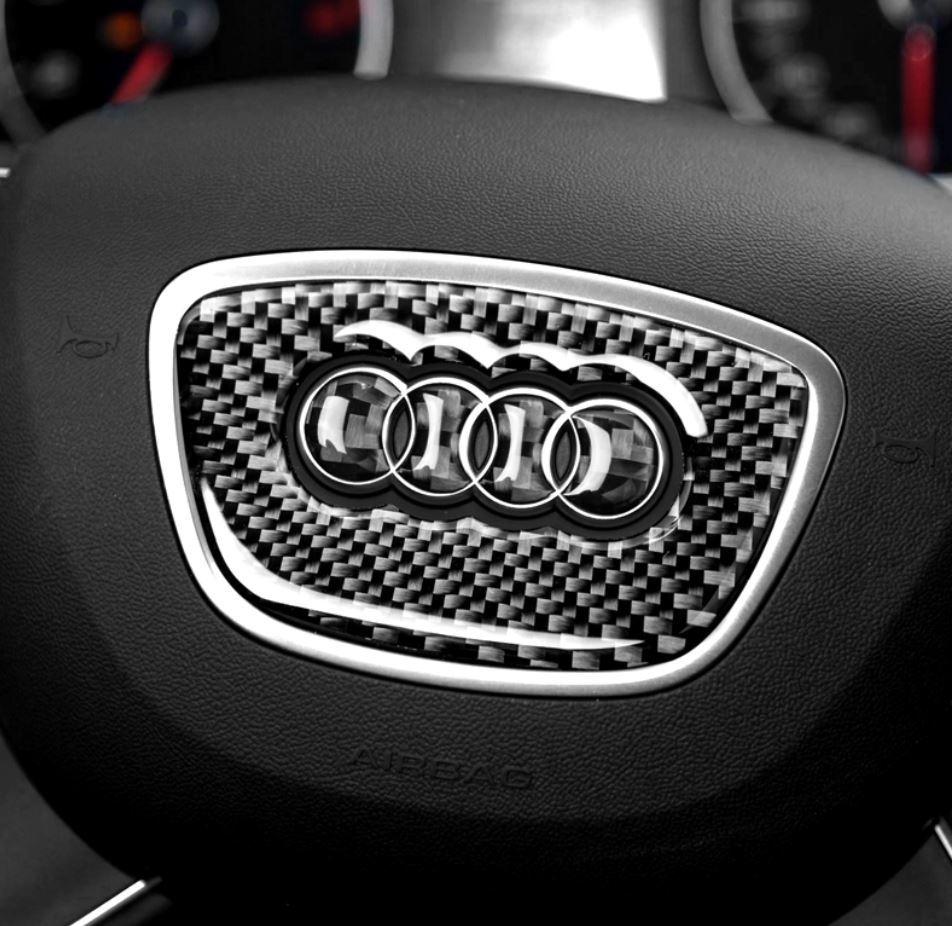 アウディ Audi ハンドル ステッカー カーボン調 3種類あり3D シール A1A2A3A4A5A6A7A8Q3Q5Q7 など ドレスアップ_画像5