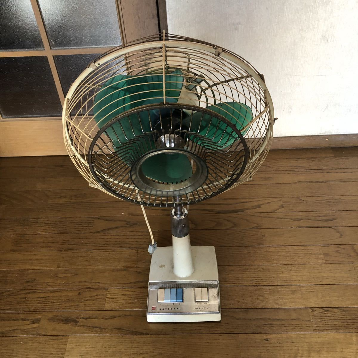 ナショナル 昭和レトロ 扇風機_画像2