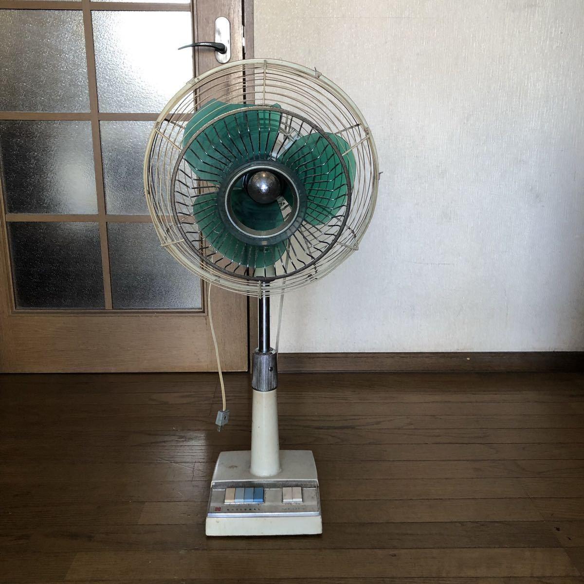 ナショナル 昭和レトロ 扇風機_画像1