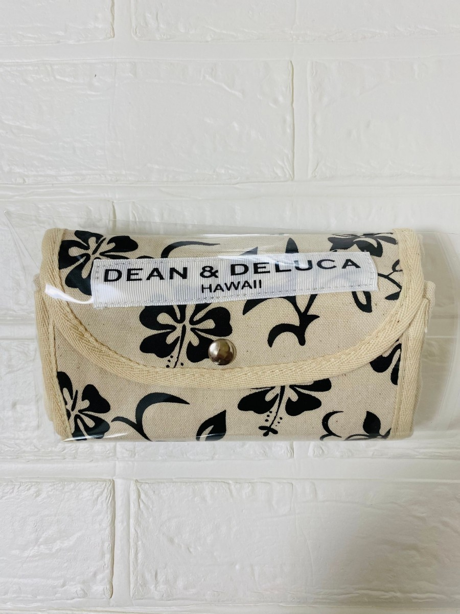 限定品★DEAN&DELUCA ハワイ限定 エコバッグ ハイビスカス柄 ブラック トートバッグ エコバッグ