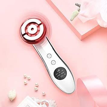 ホワイト Youmay美顔器 超音波美顔器 イオン導入美顔器 EMS RF 多機能 1台6役 5色LED光 エステ フェイスケア_画像8