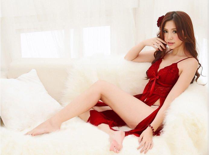 セクシーランジェリー ベビードール 花柄 赤 ナイトウエア Tバック 下着 シースルー コスプレ衣装