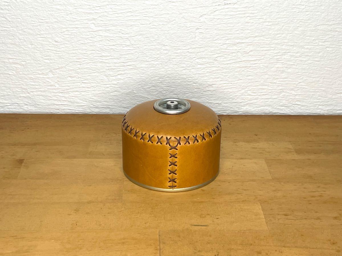 【ヌメ革】110gサイズ本革ガス缶カバー OD缶カバー ノクターン ルミエール エジソンランタン キャンドルランタン バーナー
