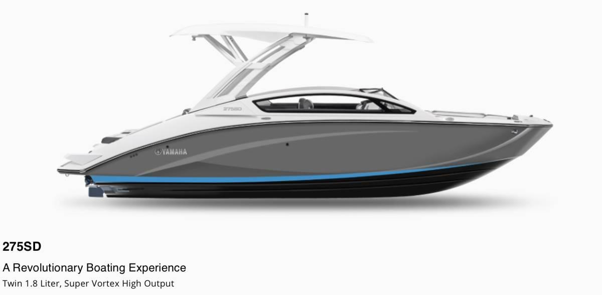 「※残艇数極少※ 新着情報!! 2022年モデル YAMAHA275SD スポーツボート消費税込みの特別早期契約価格!!最上級モデル!!」の画像1