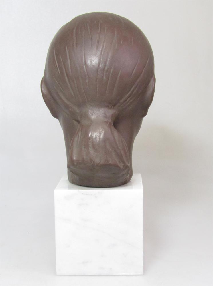 ☆ 船越保武 Y.FUNAKOSHI 銅像 ブロンズ像 ローラ 少女 女性像 頭像 置物 大理石台座 ∵_画像4