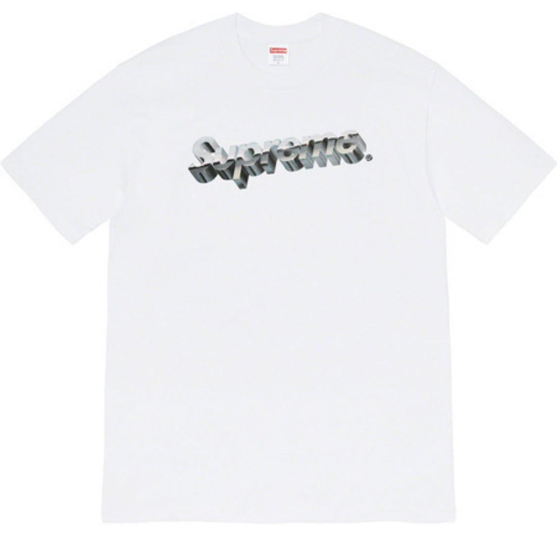 ☆超激レア☆美品☆Supreme Chrome Logo Tee Sサイズ クロム ロゴ Tシャツ White ホワイト