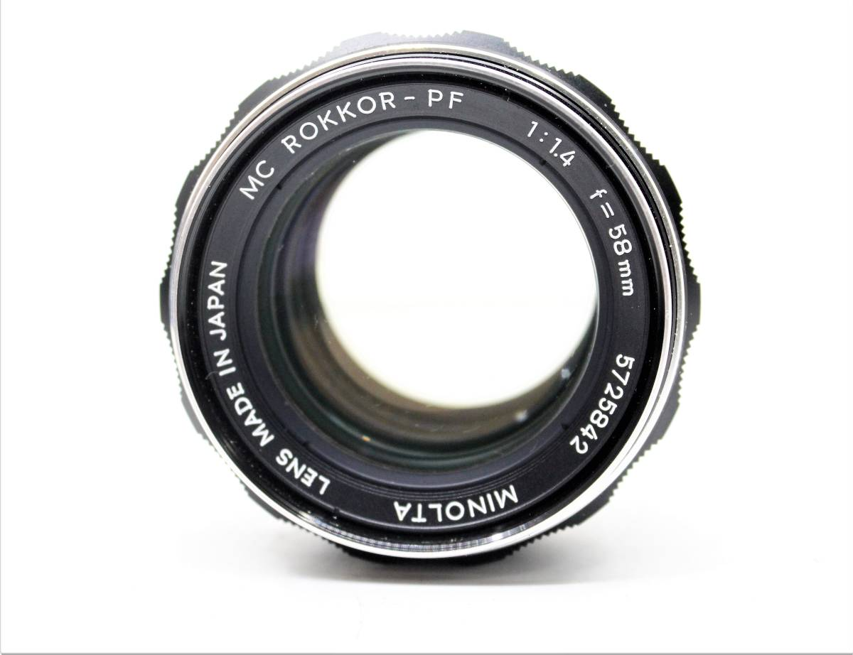 ★希少品!良品★MINOLTA ミノルタ MC ROKKOR-PF 58mm F1.4 銘玉! ミノルタ 緑のロッコール!! OK2692_画像1