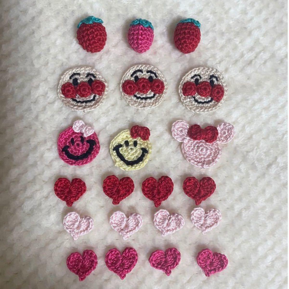 ハンドメイドかぎ針編みモチーフ☆                  在庫処分 写真2枚目はオマケなのでいらない方はコメント下さい。