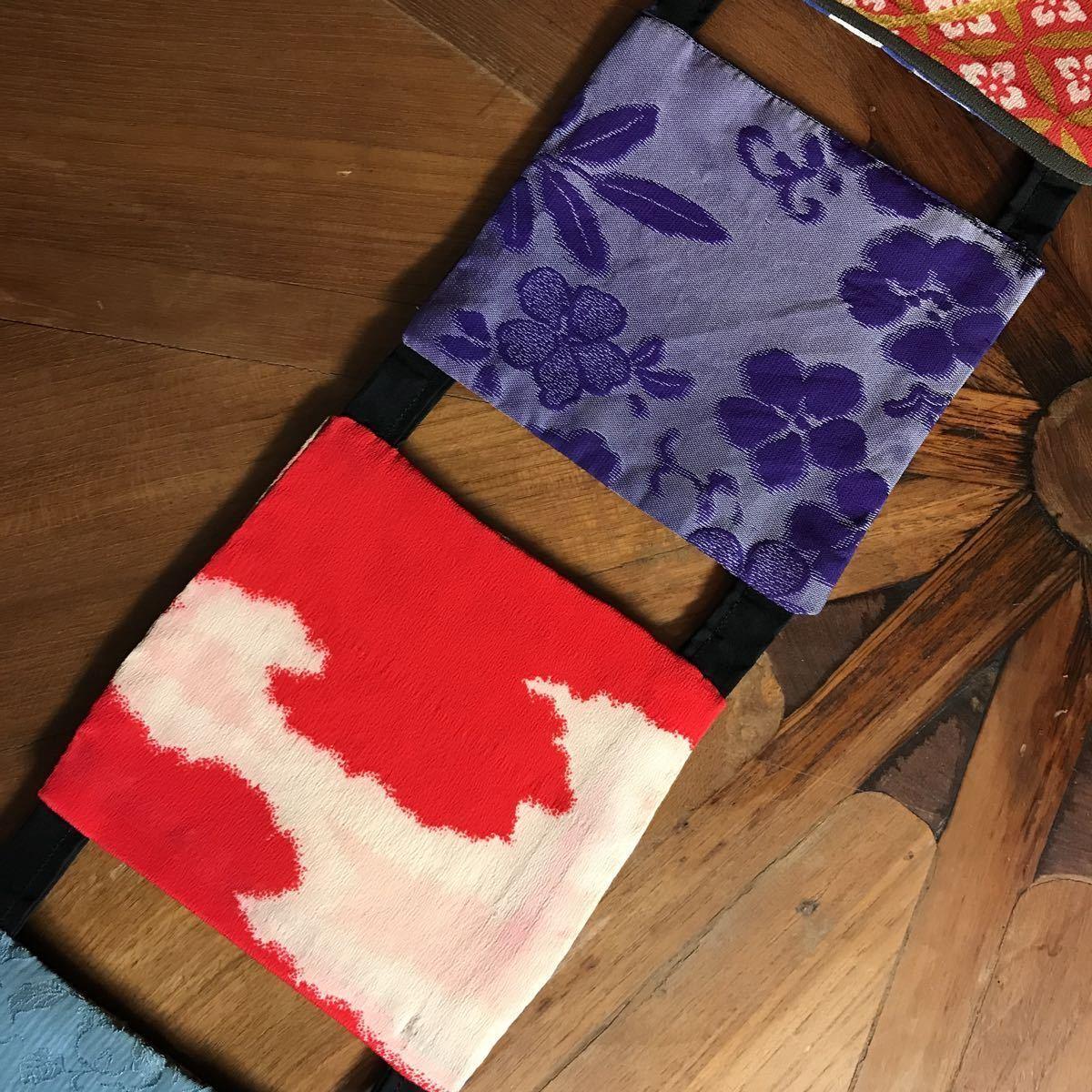 古布のテーブルランナー 着物リメイク 敷物 タペストリー アンティーク リメイク 古布 テーブルマット 絹 ハンドメイド レトロ