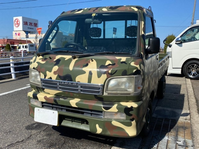 「【愛知県小牧市】 ハイゼットトラック エクストラ 3方開 4WD /迷彩カラーオールP/@車選びドットコム」の画像1