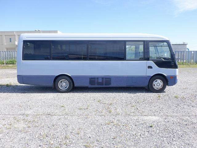 「H16 三菱 ローザ ロングボディー マイクロバス 29人乗り モケットシート リクライニング 自動スイングドア ディーゼル 5速MT KK-BE63EG」の画像2