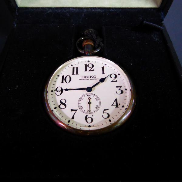 C004060 SEIKO セイコー 8L34-0010 ヒストリカルコレクション SCVR 001 The year 2000 鉄道時計 懐中時計 銀 定価25万円