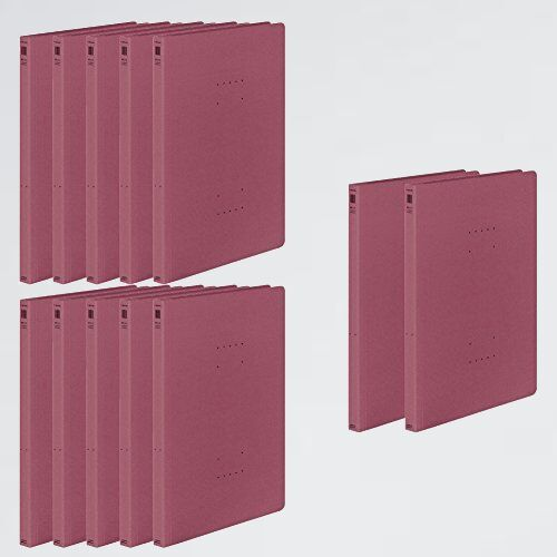 新品 未使用 ファイル コクヨ B-K6 ワインレッド フ-NE10DRX12 フラットファイル NEOS A4 12冊_画像1