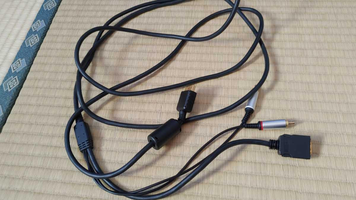 SONY製 プレイステーション2/PS3 D端子ケーブル