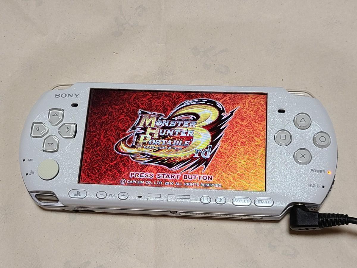 SONY PSP-3000 PSP本体のみ パールホワイト プレイステーションポータブル  ソニー