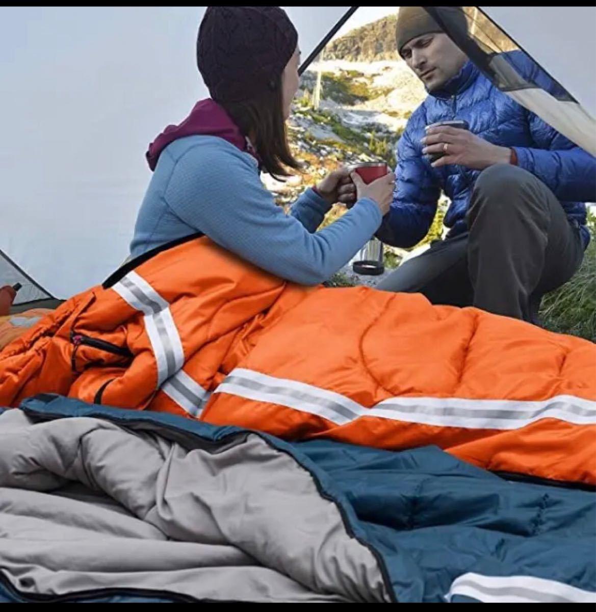 ★★大人気★★寝袋 シュラフ 封筒型 軽量 保温 210T防水 コンパクト  封筒型シュラフ 寝袋シュラフ 収納袋 軽量 春夏