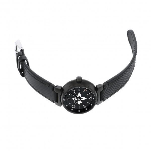 ルイ・ヴィトン LOUIS VUITTON タンブール QA047Z ブラック文字盤 中古 腕時計 レディース_画像2