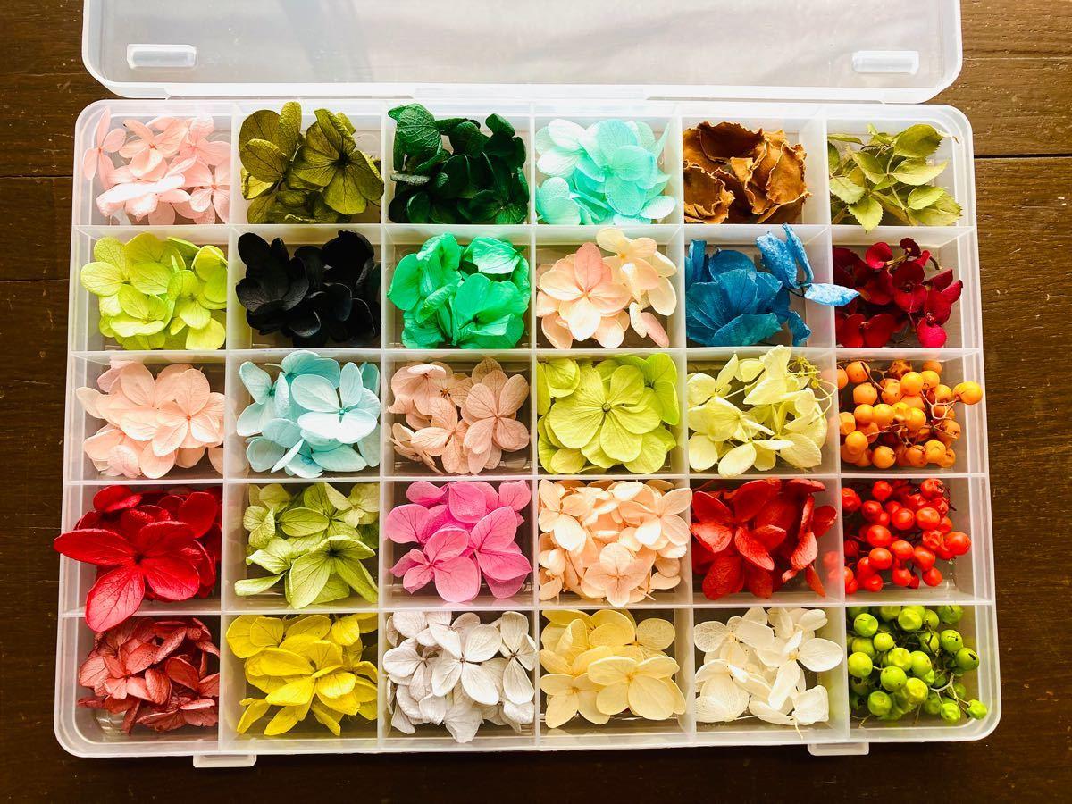 紫陽花 花びら 小花 アクセサリー ハンドメイド ハーバリウム  プリザーブドフラワー ドライフラワー 大地農園 花材